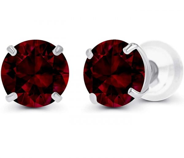 Genuine Gemstone Set Stud Earrings For Women and Girls